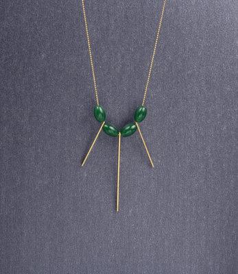 Lange jade fan ketting