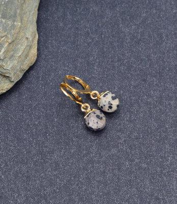 Mini oorringen met luipaard stenen